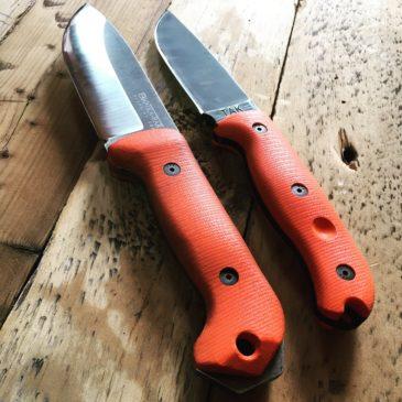焚き火をする時に持っていくナイフ